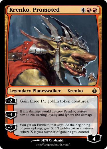 Krenko, Promoted by Jscott | MTG Cardsmith