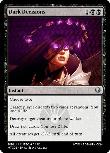 Dark Decisions!