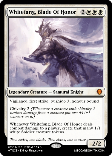 Whitefang, Blade Of Honor