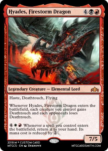 Hyades, Firestorm Dragon by Xenthon | MTG Cardsmith