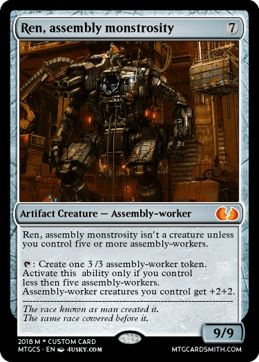 Ren, assembly monstrosity