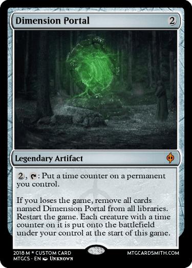 Dimension Portal by DaedricLord22202 | MTG Cardsmith