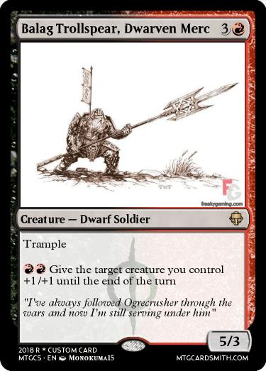 Balag Trollspear, Dwarven Merc