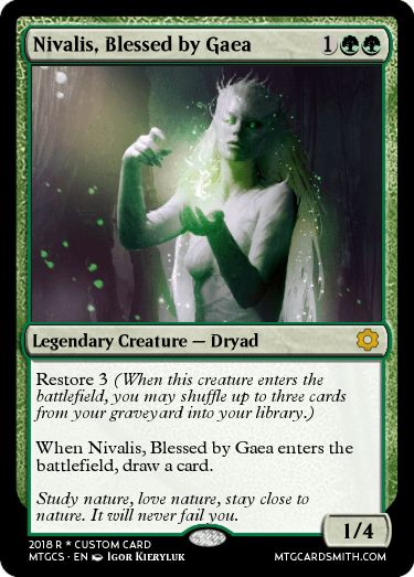 Nivalis, Blessed by Gaea