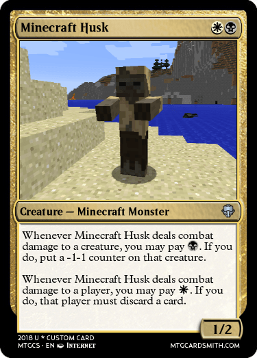 Minecraft Husk by 18Planet | MTG Cardsmith
