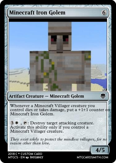 Minecraft Iron Golem by 18Planet | MTG Cardsmith