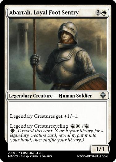 Abarrah, Loyal Foot Sentry