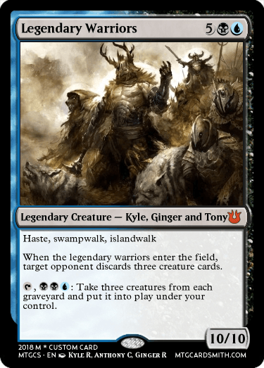 legendary warriors by vinilly mtg cardsmith