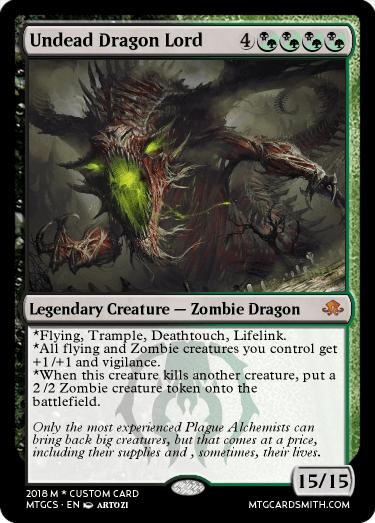 Undead Dragon Lord By Saify223 Mtg Cardsmith