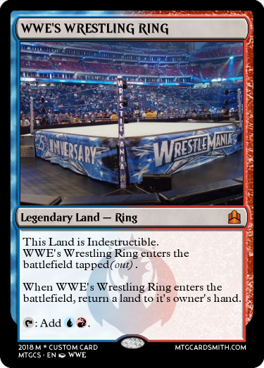 3rd Contest: WWE Smackdown vs RAW! - MTG Cardsmith Community Forums