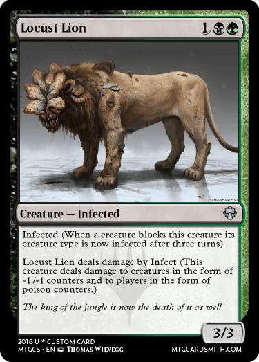 Locust Lion By Maus Mage Mtg Cardsmith
