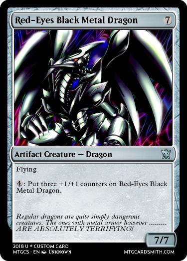 red eyes black metal dragon by aventador mtg cardsmith