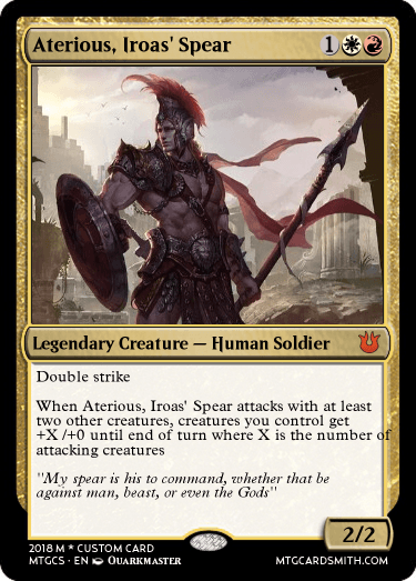 Aterious, Iroas' Spear by TheExiledKnight | MTG Cardsmith