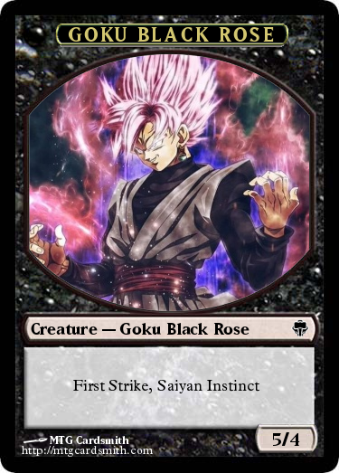 Goku Black Rose By Wyykublack Mtg Cardsmith