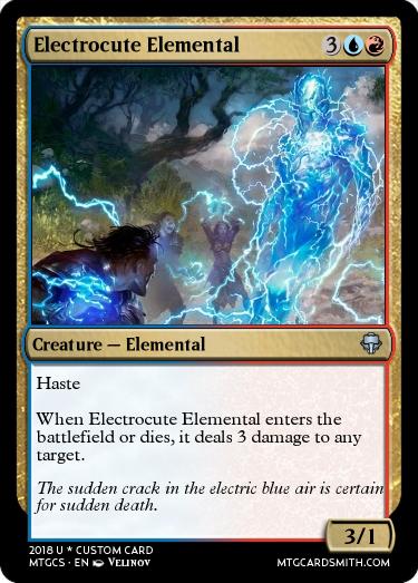 Electrocute Elemental by shadow123   MTG Cardsmith