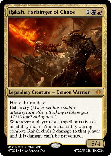 Rakah, Harbinger of Chaos