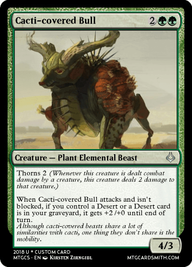 Cacti-covered bull