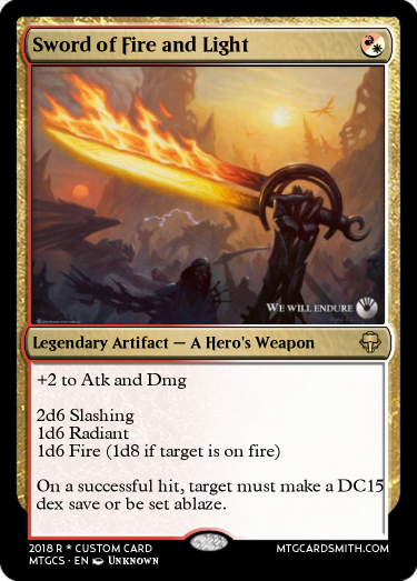 Sword Of Fire And Light By Tron Mtg Cardsmith