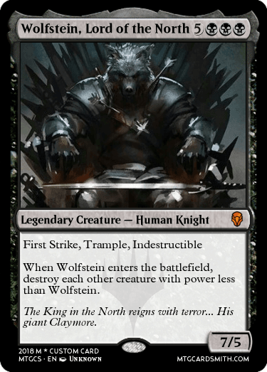 Wolfstein, Lord of the North