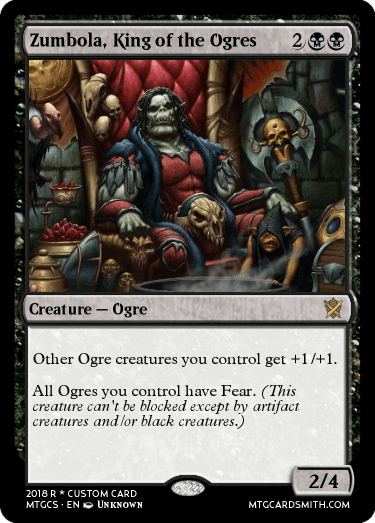 zumbola king of the ogres by itstheandyconda mtg cardsmith