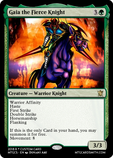 Gaia The Fierce Knight By Komon Mtg Cardsmith