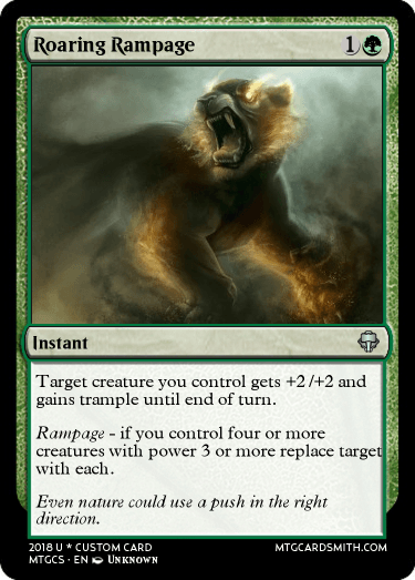 Roaring Rampage by IronCrusher | MTG Cardsmith