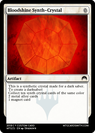 Bloodshine Synth-Crystal by jhalsey   MTG Cardsmith