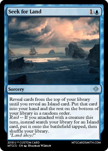 Seek for Land