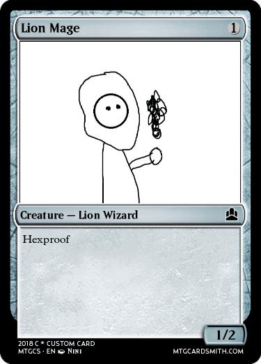 Lion Mage By Remynini Mtg Cardsmith