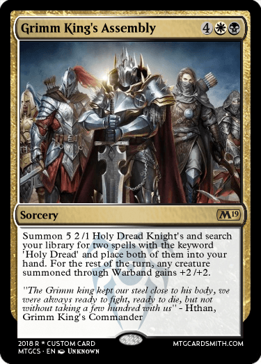 Grimm King's Assembly by thorkazil99 | MTG Cardsmith