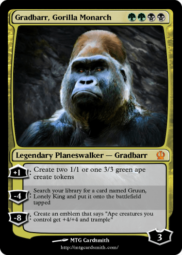 Gradbarr, Gorilla Monarch
