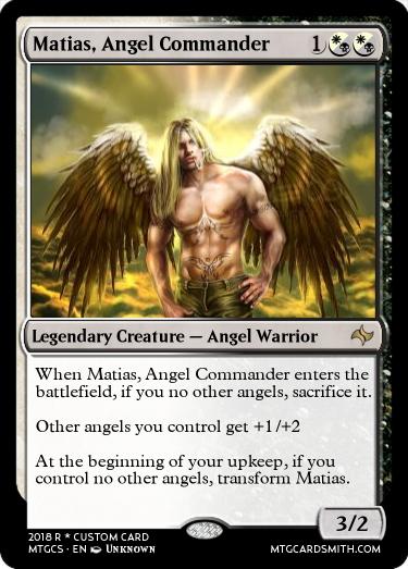 Matias, Angel Commander by Sassya   MTG Cardsmith