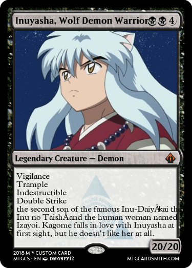 Inuyasha Wolf Demon Warrior By Dmoney12 Mtg Cardsmith
