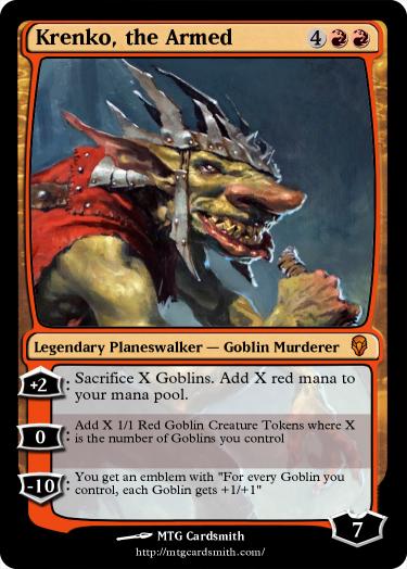 Krenko, the Armed by RhynoBytes | MTG Cardsmith