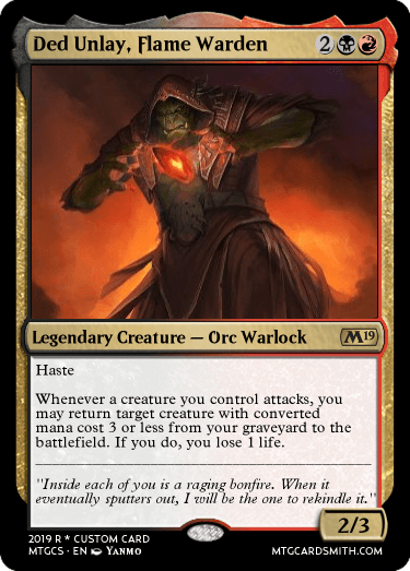 Ded Unlay, Flame Warden
