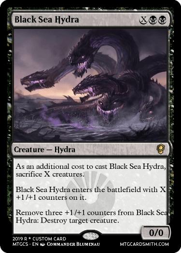 Black Sea Hydra by Dystopia   MTG Cardsmith