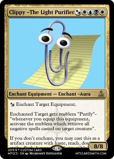Clippy -The Light Purifier by AUniquePaperclip | MTG Cardsmith
