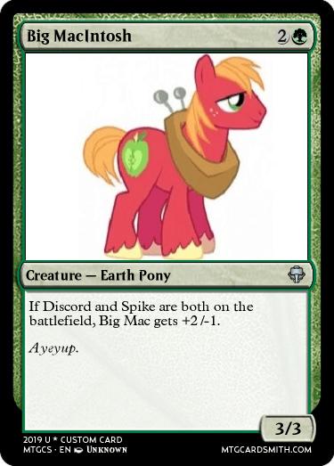 Big MacIntosh by maxpuncia   MTG Cardsmith