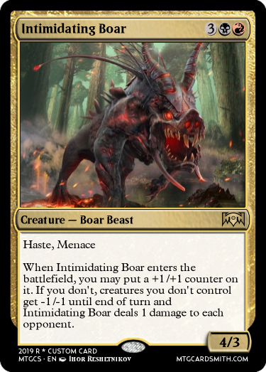 Intimidating Boar