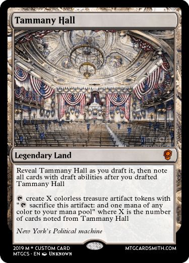 Tammany Hall by gamehammed | MTG Cardsmith