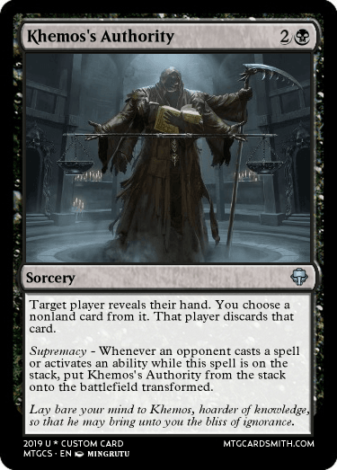 Khemos's Authority