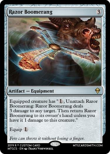 Razor Boomerang (my version)