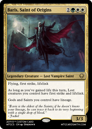 Baris, Saint of Origins