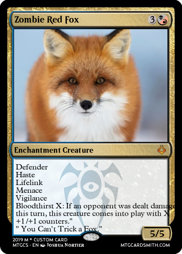 Zombie Red Fox