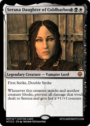 Serana Daughter of Coldharbour by Hillbilly7979 | MTG Cardsmith