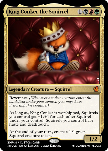 King Conker the Squirrel