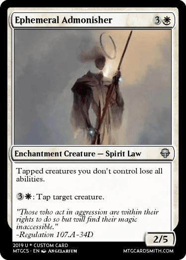 Ephemeral Admonisher