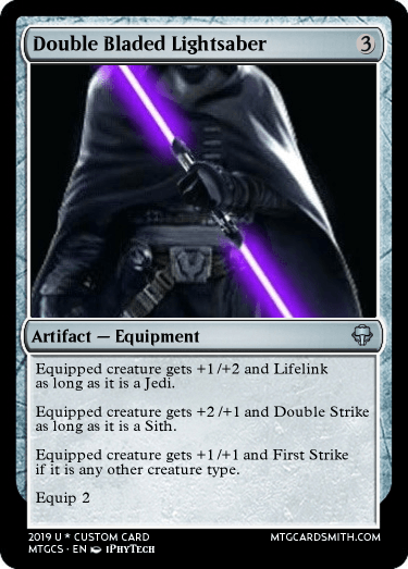 Double Bladed Lightsaber by Arcandrus | MTG Cardsmith
