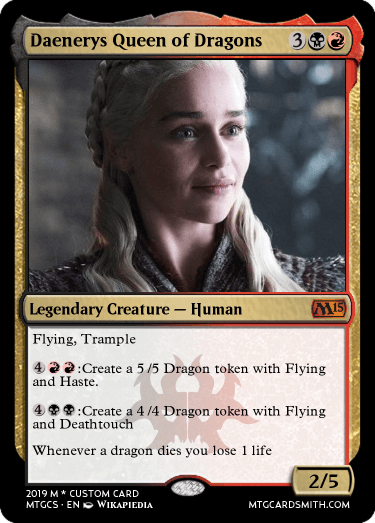 Daenerys Queen of Dragons