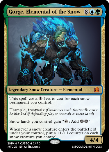 Gorge Elemental of the Snow